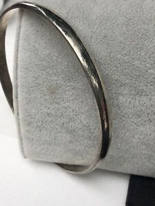 Signed-Hecho-925-Sterling-Silver-Vintage-Cuff-Bracelet