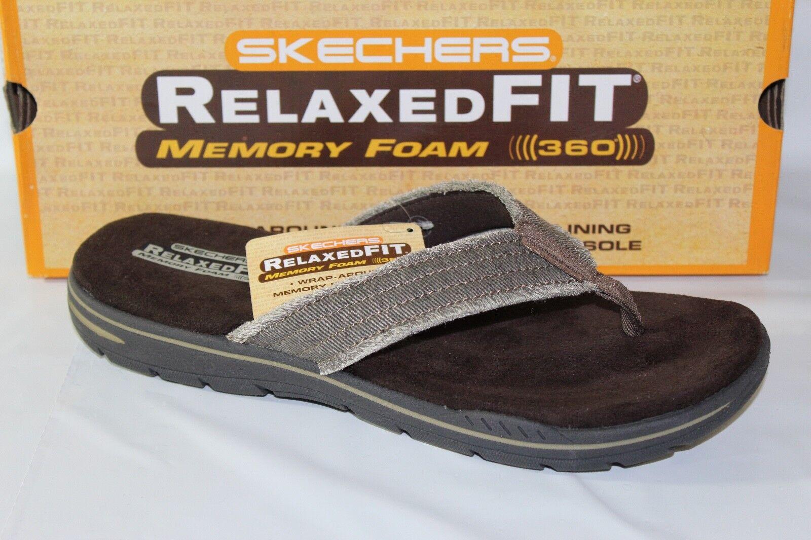 Arven Flip Flops Mens Toe Post Sandals 65091 Evented Skechers Relaxed Fit
