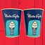 thumbnail 1 - RARE Vintage 1950s 1960s Set of 2 Mister Softee Blue Wax Paper Cups