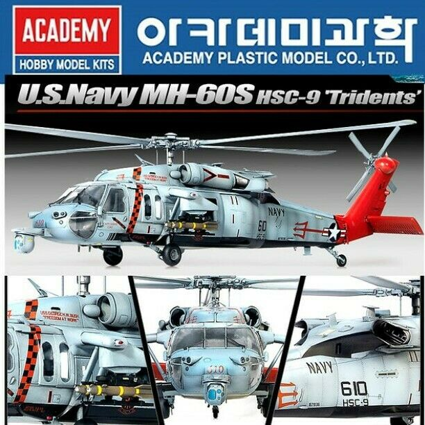 1 35 Scale Academy U.S Navy MH-60S HSC-9 Tridents Model