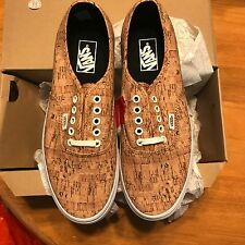 VANS AUTHENTIC Cork Tan True White MENS SZ 10 VN000AIGYT