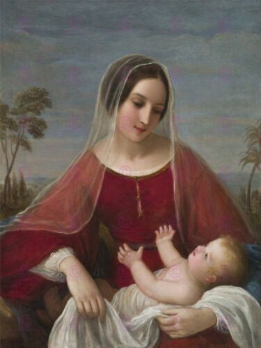 PAINTING ALLEGORY BIBLICAL SCHIAVONI MADONNA AND CHILD LARGE PRINT POSTER LF1373