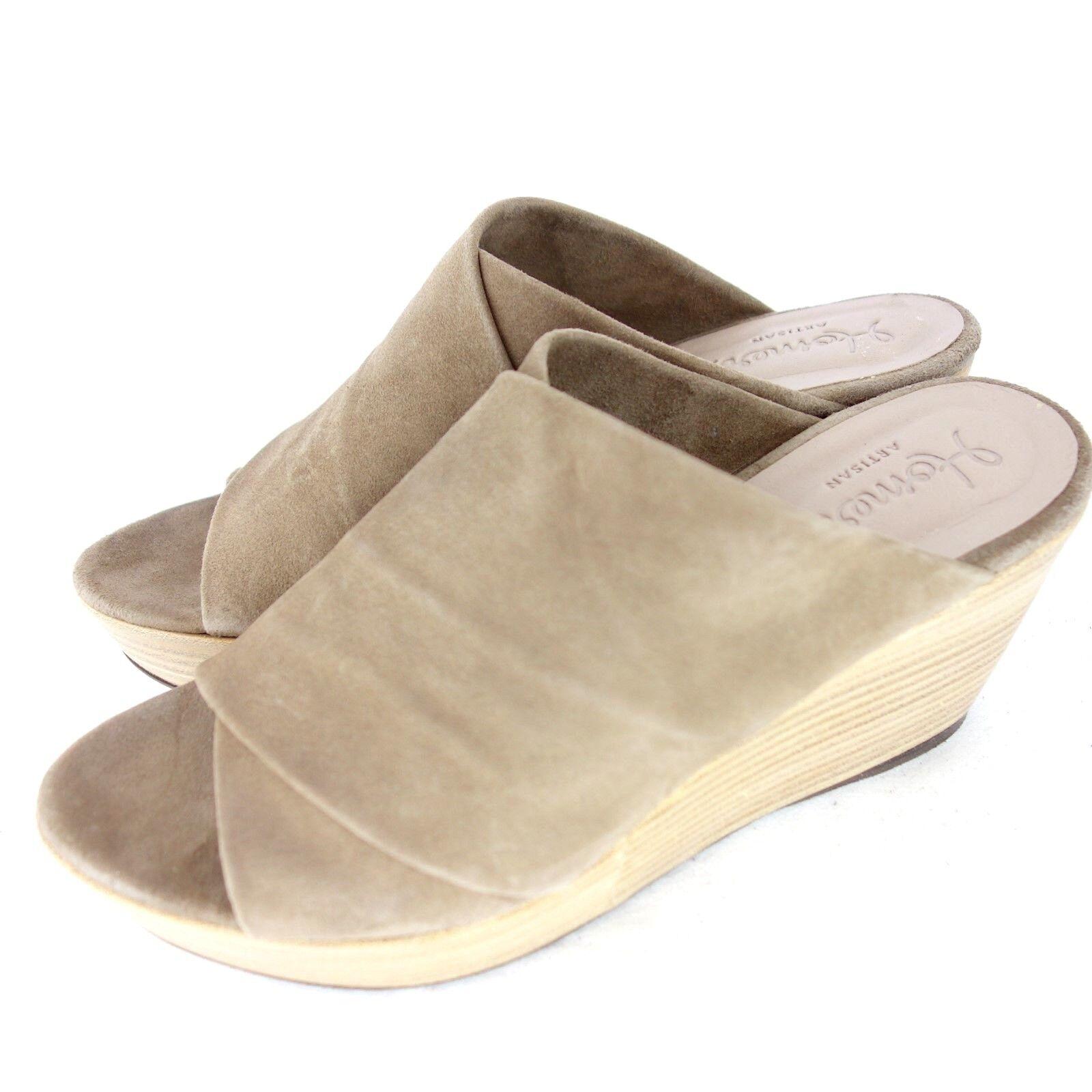 Homers donne sandali cunei calzature pelle di  pelle con np 235 nuovo  moda classica