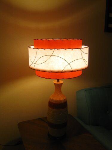 Mid Century Vintage Style 3 Tier Fiberglass Lamp Shade Modern Atomic Retro TW3
