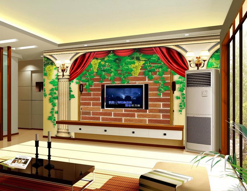 3D Grape Vines 4012 Wallpaper Murals Wall Print Wallpaper Mural AJ WALL UK Carly