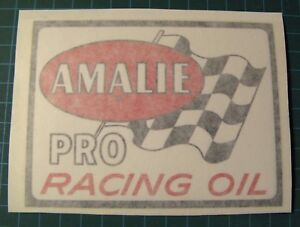 VINTAGE-AMALIE-PRO-RACING-OIL-RACING-VINYL-STICKER-DECAL-SCCA-NASCAR-DRAG