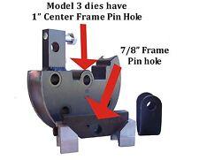 """1-1/2"""" OD Round Tube Die Set 4.5""""CLR-180 JD2 Model 3 Bender"""