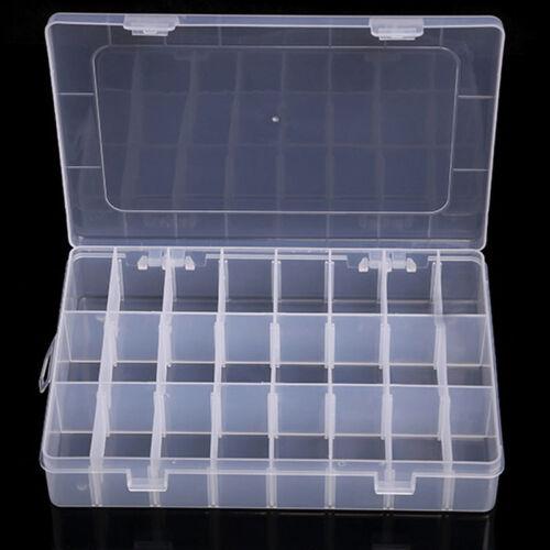 10//15//24//36 Plastic compartment Jewelry Adjustable Organizer Storage Box Case