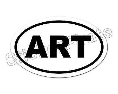 * Oval Euro Car Magnet ART Artist  Magnetic Bumper Sticker