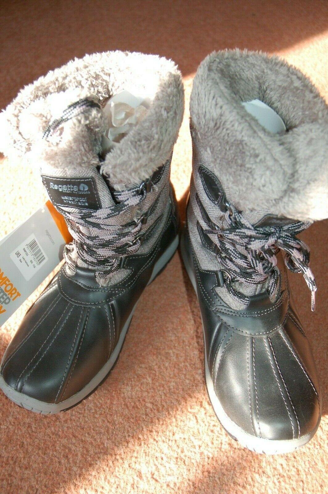 Nouveau UK 5 Regatta Lady Lady Lady Harlowe Isotex Thermo Guard ATL Fourrure Brun Tweed bottes b429bb