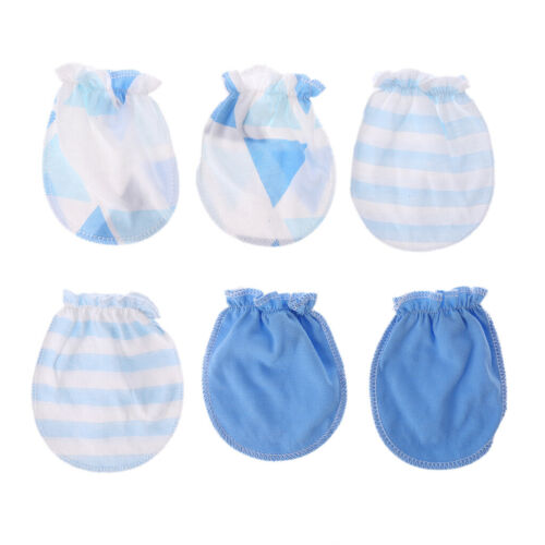 3Pair Baby Anti Scratching Gloves Newborn Protection Face Cotton Scratch Mittens