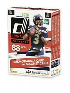 2020 NFL Donruss Football Blaster Box Optic Prizm Previews Burrow Herbert Auto?
