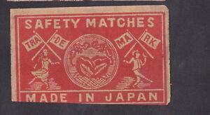Ancienne-etiquette-allumettes-Japon-BN22993-Femme-Homme-Drapeau