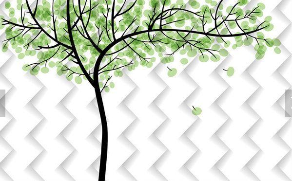 3D Bäume, Frühling 18407 Fototapeten Wandbild Fototapete BildTapete Familie DE