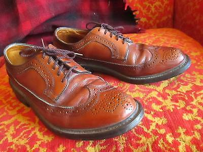 8D 8 D  VINTAGE DEXTER BROGUES PEBBLE LEATHER WINGTIPS Mens COGNAC  MADE USA