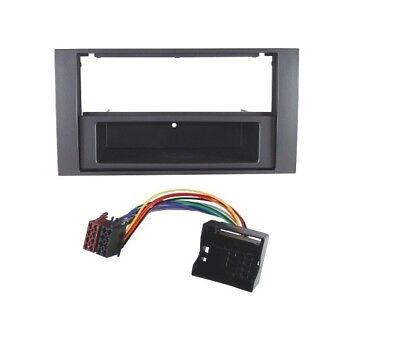 Ford S-Max Fiesta C-Max ISO Quadlock Adapter+2-DIN Radio Blende+Fac dunkelsilber