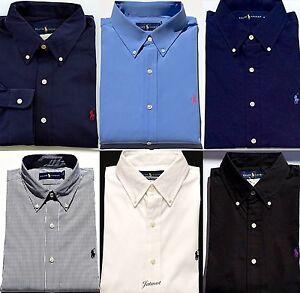 Ralph Lauren Mens Poplin Button Up Shirt