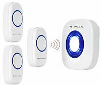 Physen Circle Style Wireless Doorbell Kit Of 1 Door Chime And 3 Push Button , 52 on sale
