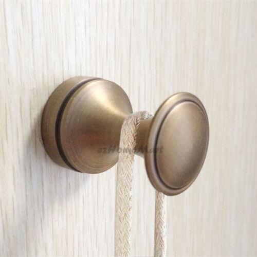 Antique Brass Wall Mount Bathroom Single Robe Coat Hat Towel Hanger Hook