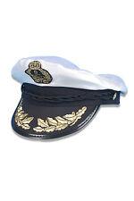 El Capitán Sombrero Náutico Azul Marino Marineros De Lujo Piloto Accesorio Disfraz Elaborado Vestido