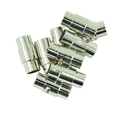 5pcs Size 7mm Glue-in Magnetic Clasps for Leather Cords Necklace Bracelet