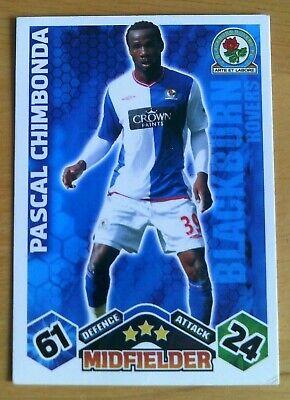 Match Attax 2009-2010 Pascal Chimbonda Blackburn no 62
