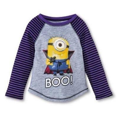 NEW Despicable Me Toddler Girl Minion T Shirt Christmas Candy Cane Size 3T