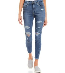 Levi-039-s-Mile-High-Ankle-Destroyed-Jeans-Ripped-Super-Skinny-24-26-27-28-29-30-32