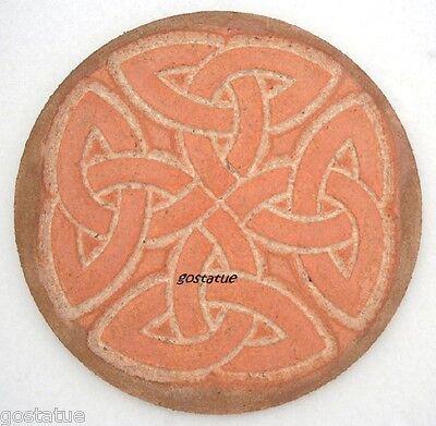 Celtic knot plaque plastic mold for plaster concrete casting garden mould