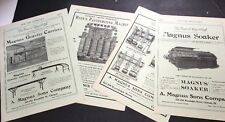 1908 Beer Ad Brewery Equipment Magnus Of Chicago 2 Pages Keg Fillers Pasteurizer