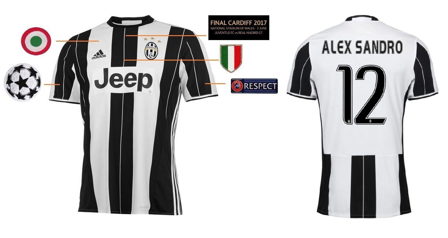 Trikot Juventus Turin Champions League Final Cardiff 2017 Alex Sandro