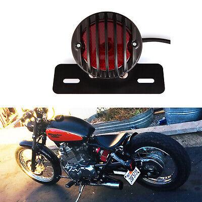 DC 12V Motorcycle Bike LED Brake Tail Light Black License Plate Bracket Holder