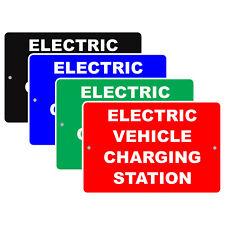 Electric Vehicle Charging Station Ev Reserved Parking Spot Aluminum Metal Sign