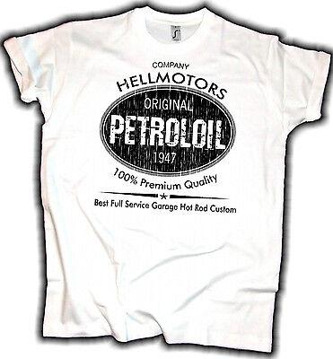 Hotrod Shirt Petrol Oil Hellmotors V8 Muscle Car Biker T-Shirt Chopper Vintage