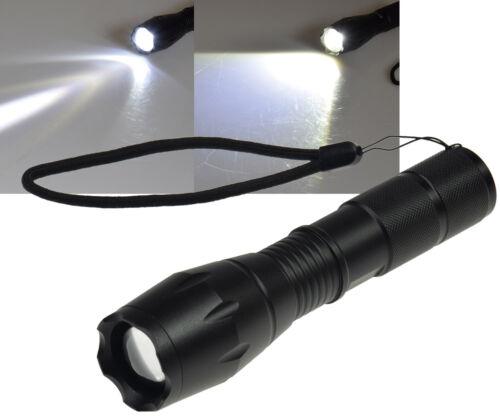 SOS LED Taschenlampe 10W mit Zoomfunktion 350 Lumen 6000K ØxL 136x37mm IP44