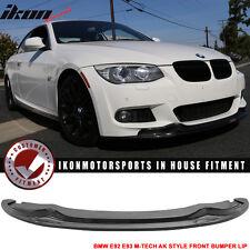 11-13 BMW E92 E93 LCI M-Tech & M-Sport AK Style Front Bumper Lip Carbon Fiber CF