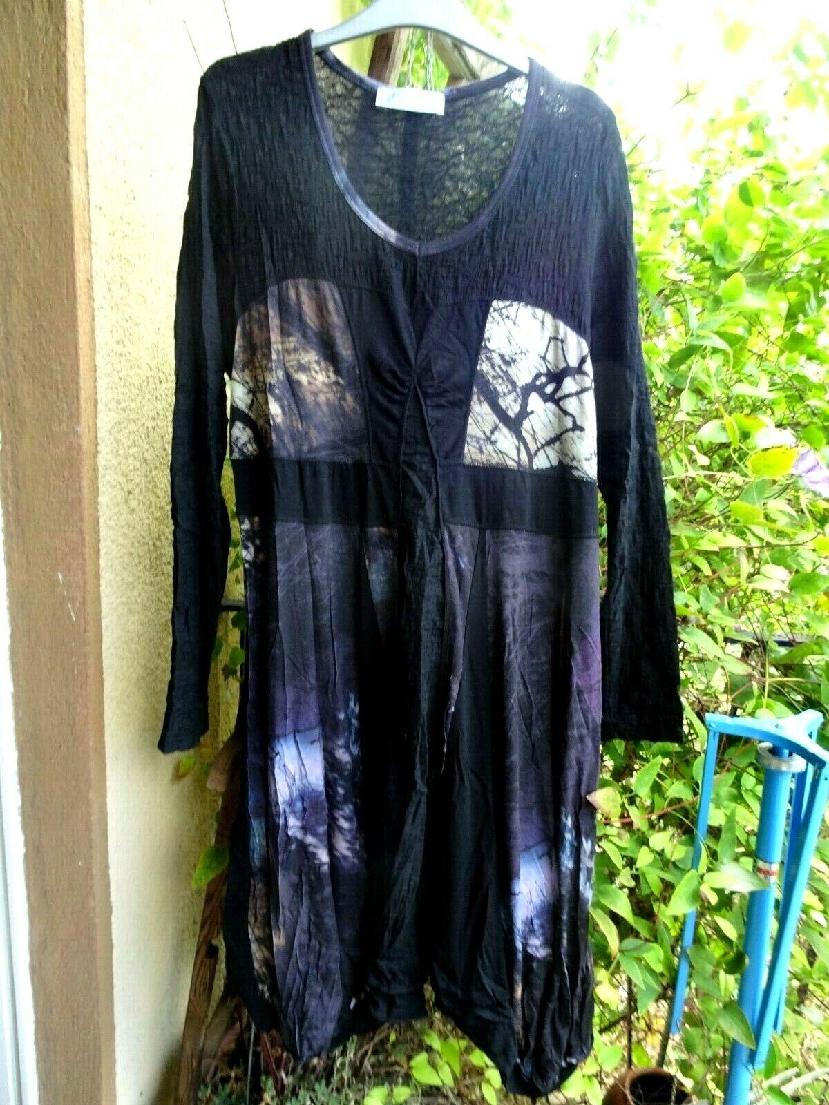 DECA Paris, schönes Kleid, T 5, ca 44, Stretch, aufwändige Machart