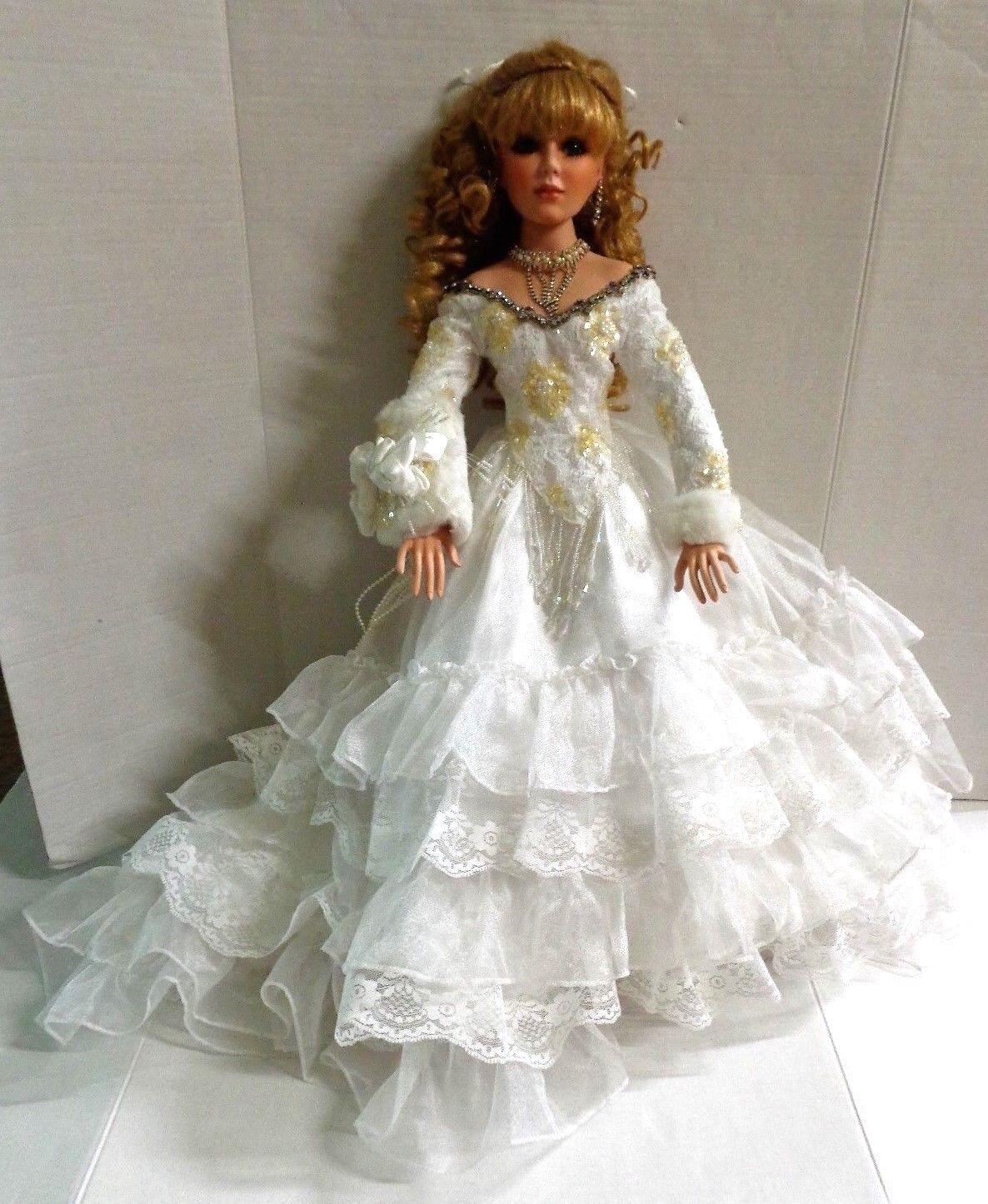 Rustie Winter Bliss Porcelain Bride bambola 26  2003  MBI  100% nuovo di zecca con qualità originale