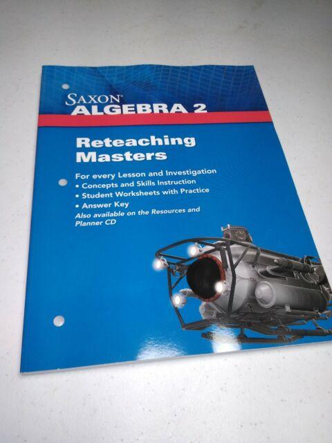 Saxon Algebra 2: Reteaching Masters and Answer Key 2009 ...