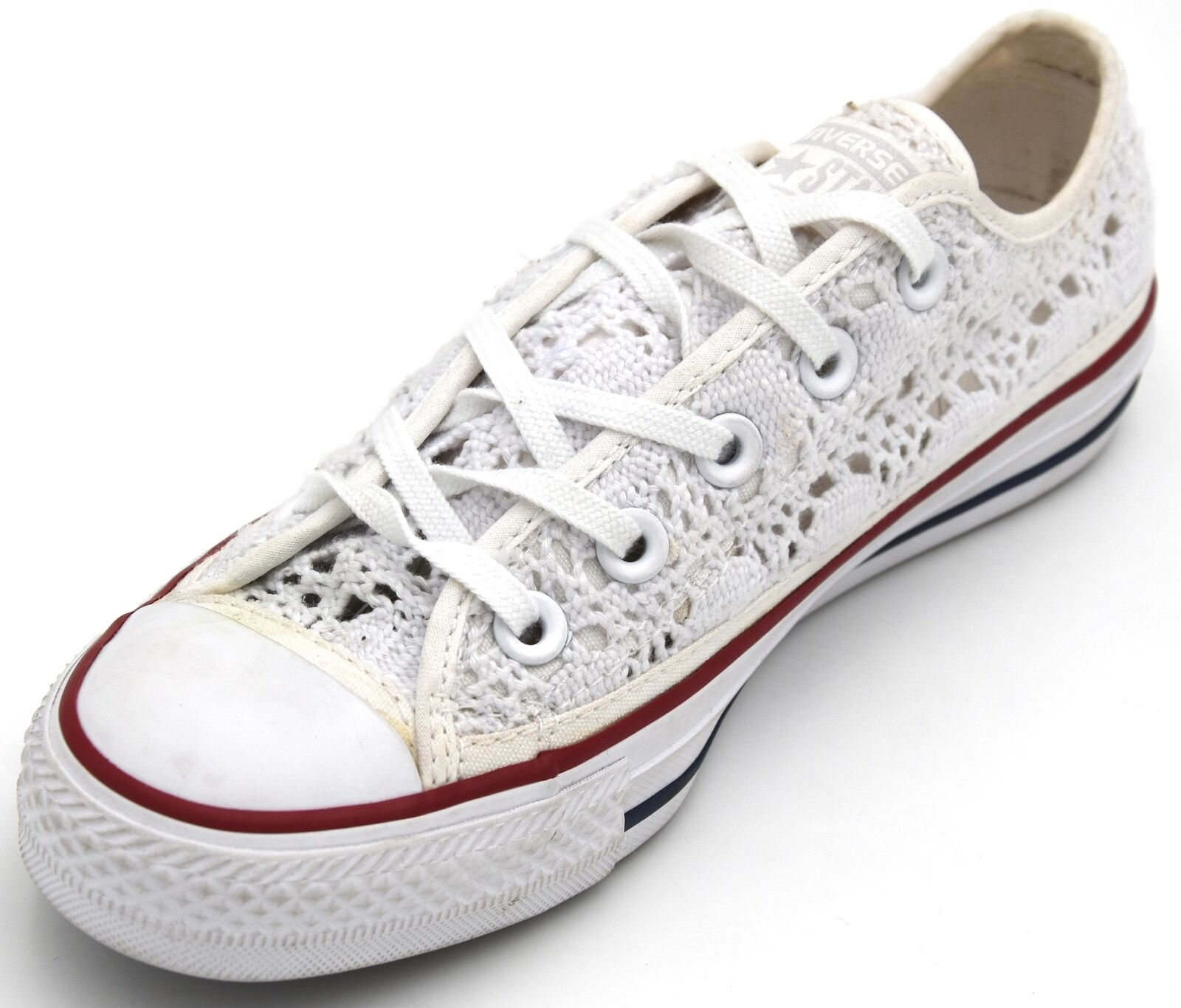CONVERSE ALL STAR WOMAN baskets chaussures CASUAL FREE TIME MACRAME 549314C DEFECT