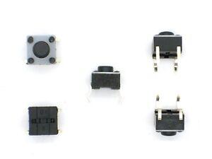 5x-Mikro-Eingabetaster-12V-50mA-6x6x4-9mm-Ein-Taster-Kurzhubtaster-8-RG4