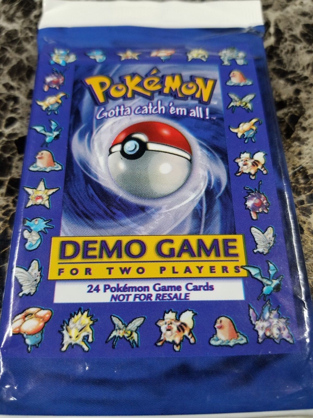 Paquete de demostración de Pokemon Sellado Original Pokemon Booster utilizado para la promoción Trading Card Game