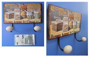 Targa-vintage-appendino-appendiabiti-034-Chicoree-extra-034-metallo-cm-23x17x7