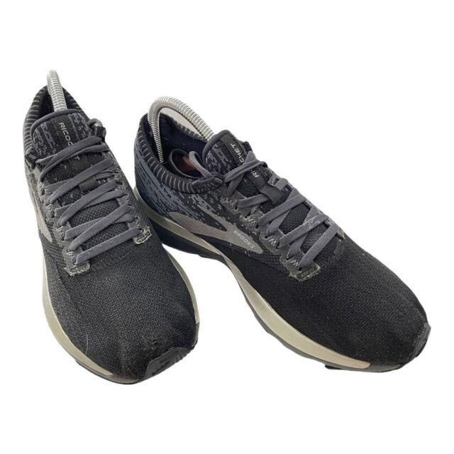 Brooks Ricochet Black Grey Silver Women Running Training Shoes Sneaker 120282 1B