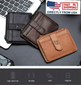 Men-039-s-Leather-Trifold-Wallet-ID-Card-Holder-Purse-RFID-Blocking-Clutch-Coin-Clip