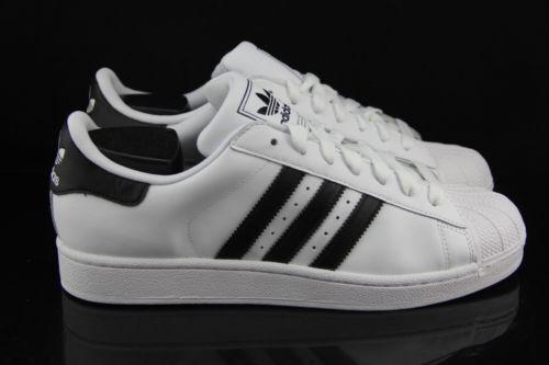 Adidas WEISS/schwarz Originals superstar II 2 WEISS/schwarz Adidas  Uomo Trainers 0f9266