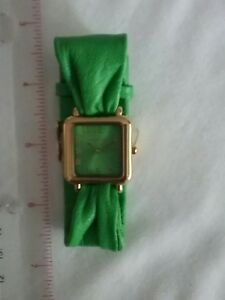 Joan-Rivers-Quartz-Watch-w-Lime-Green-Gathered-Genuine-Leather-Band