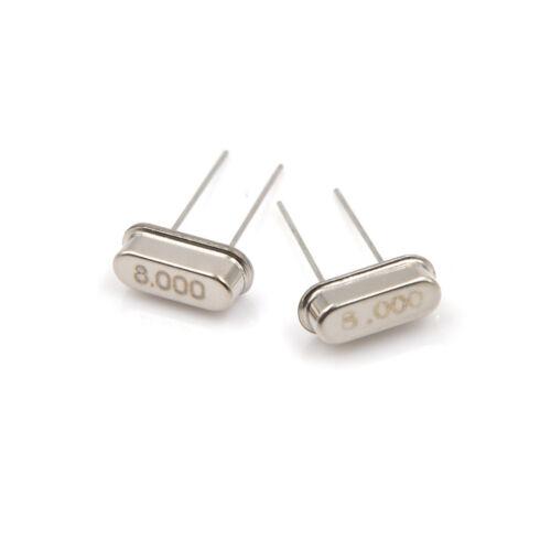 10Pcs//set New 8MHz //8.000 MHZ Crystal Oscillator HC-49S HV