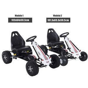 Coche de Pedales Go Kart de Acero para Niños 3-6 Años Carga 35kg Juguete