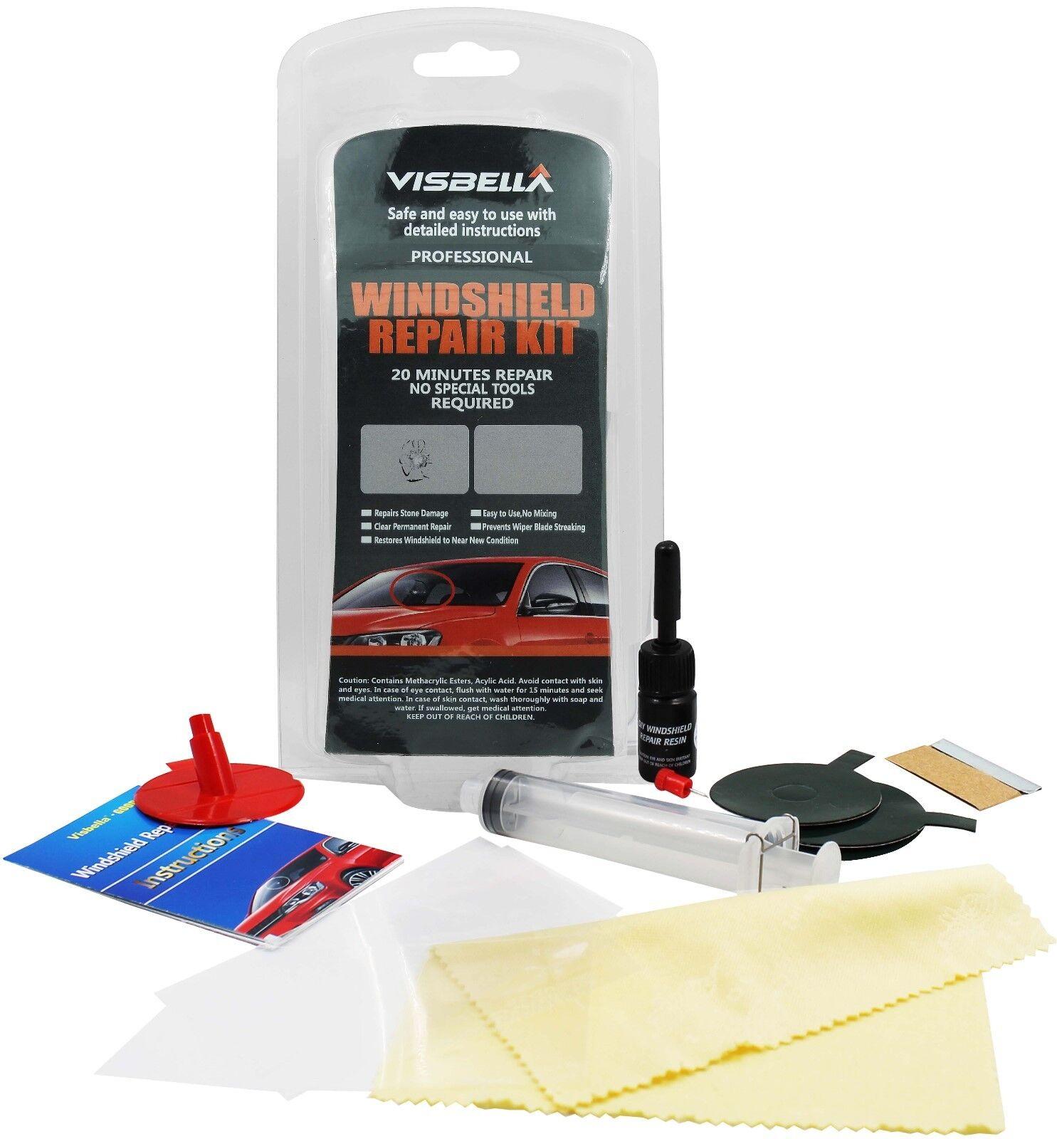 Car Window Repair: Visbella Windshield Car Glass Repair Kit Chip Crack Repair